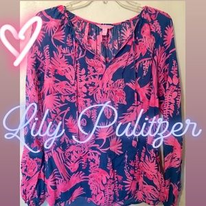 Lilly Pulitzer Top - Small - Pink and Blue